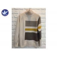 High Neck Fashion Pattern Womens Knit Pullover Sweater Thick Winter Jumper