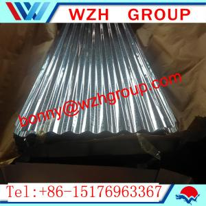 China 0.16 800 mm  galvanized corrugated steel sheet / metal roofing sheet on sale