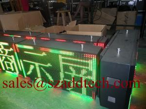 China USA P10mm Tricolor LED Message Signs on sale