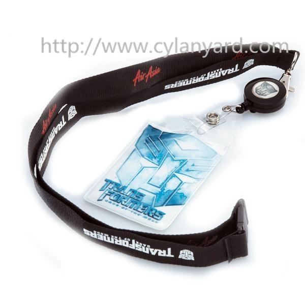 Retractable badge reel neck ribbons