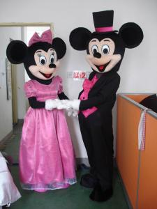 Quality adult mickey minnie cartoon costume for sale