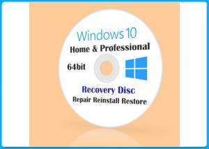 Quality Win 10 Pro 32/64BIT DVD Microsoft Windows Softwares Customizable FQC COA X20 for sale