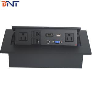 China Square Corner Desktop Pop Up Hidden Socket With 110~240VA Rated Voltage For School on sale