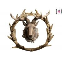 Rustic Style Antlers Circle Deer Head Wall Decor For Bar / Hotel / Office