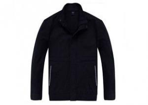China Classical Design Men's Black Work Coat Polyester Fiber Material With Uniform Pants on sale
