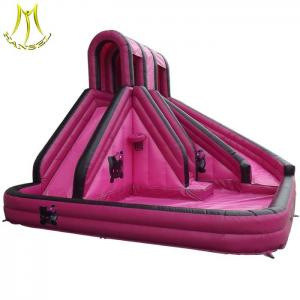 China Hansel low price inflatable slide slippers with swimming pool supplier in Guangzhou on sale