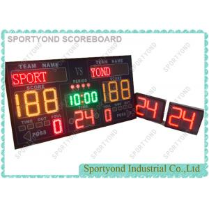 China Internal Siren MultiSport Electronic Basketball Scoreboard And Shot Clock Timer on sale