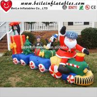 Fashionable Christmas giant outdoor inflatable Santa Claus and inflatable man and car