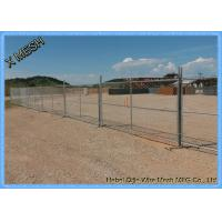 Galvanized Sturdy Temporary Mesh Fencing , Portable Chain Link Fence Steel Feet