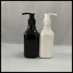 China Square PET Cosmetic HDPE Plastic Bottle  200ml Facial Clearner Shampoo Container on sale