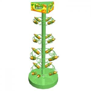 China 3 tier looped hook wire counter spinner display rack on sale
