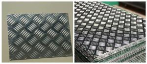 China 6061-T6 Five Bar Aluminium Checker Plate For Anti Slip Floor Board High Strength on sale