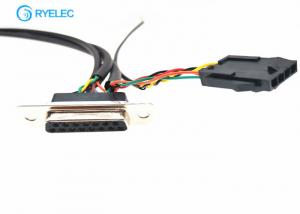 China Db25 Custom Cable Assemblies D - Sub Female To 51021 4p 7p 8p 14p 1.25mm With Molex 3.0 on sale