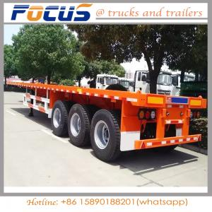 China 40FT Container Skeleton Skeletal Truck Tractor Semi Trailer with 2 / 3 axles on sale