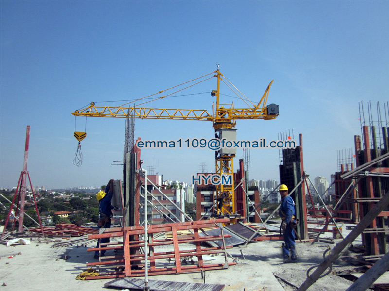 OEM Cheap QT10 Small Inner Tower Crane Inside Buildings 9
