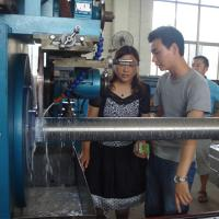 China Ball Screw Wrapped Wedge Wire Mesh Making Machine With Lock Expanding Ring on sale