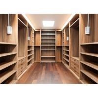 Furniture Walk In Closet Wardrobe MDF Material Melamine Easy Installation