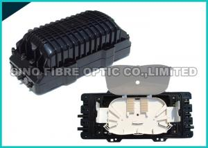 China 2 Round Ports Fiber Optic Splice Closure FTTH Drop Cable Type 24Pcs SC Adapter on sale