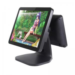 China Wear Resistant Touch Screen Pos Terminal , Food Industry All In One Pos Dual Display on sale
