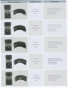 China BPW brake shoe,brake systerm,auto spare parts on sale