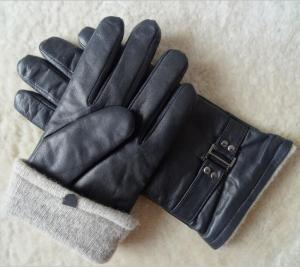 China Wholesale Stock Classic Design Kids genuine Leather men Goat Skin Leather Gloves on sale