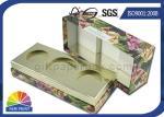 Caja de regalo de papel rígida personalizada de la cartulina que empaqueta para los paquetes cosméticos del regalo
