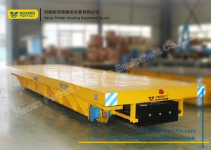 China Anti-Explosion Industrial Transfer Trolley , Hot Rolled Coil Transfer Railway Platform Battery Cart on sale