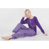 China Fashionable Violet Womens Pyjama Sets Long Sleeve Top Australian Design on sale