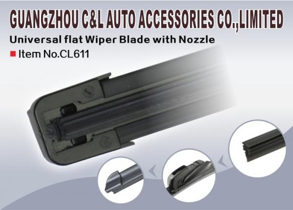 Wash Parts Spray Nozzle replace wiper blade rubber Refill Coated