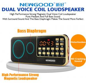 China Bluetooth radio led speaker with disco flashing lighting show on sale