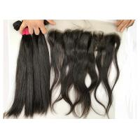 China Girls Straight Peruvian Human Hair Weave / Natural Black Hair Extensions on sale