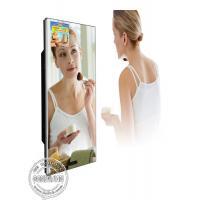 Washroom Magic Mirror lcd TV Screen Video Advertisement Display with Motion Sensor