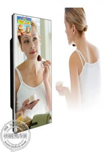 China Washroom Magic Mirror LCD TV Screen Video Advertisement Display With Motion Sensor on sale