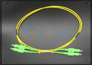 China APC Corning  Fiber Optic Cable , Single Mode Fiber Jumpers 9 / 125 2.0MM on sale