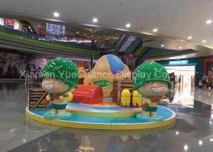 China Soldier Shape Life Size Cartoon Statues , Custom Fiberglass Statues Green Color on sale