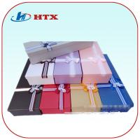 China Pretty Cardboard Packing Box with Double-Color Ribbon for Gifts/Tie on sale
