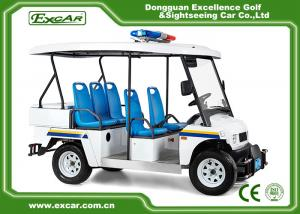 China White 5 Seater Battery powered Electric Patrol Car 5KW 72V on sale