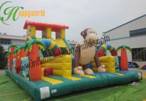China Customized Inflatable Fun City With King Kong Monkey Giant Outdoor Inflatable Toys on sale