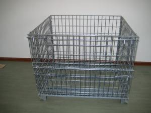 China Heavy Duty Galvanized Metal Storage Cage / Wire Mesh Container For Wearhouse Storage on sale