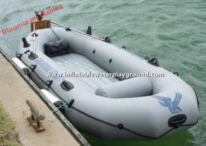 China Lightweight Floating Inflatable Raft Boat Fishing , Motorized Inflatable Power Boats on sale