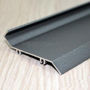 China Grey Sand Blasting Color Aluminium Extrusion Profiles For Louver Door / Electric Rolling Shutter on sale