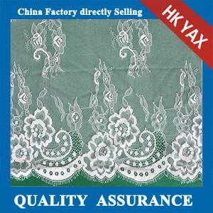 China bridal dress lace fabrics in off-white make-to-order White wedding dress on sale