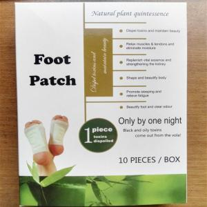 China 100% new material bamboo Vinegar Detox foot patch on sale