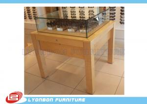 China Wooden Retail Display Table MDF For Presenting Sun Glasses , Logo Sticker on sale