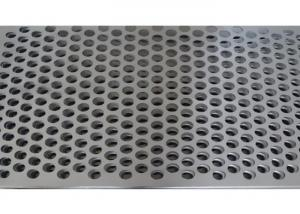 China Stainless Steel Perforated Metal Screens Mine Sieving Mesh Grey Color on sale