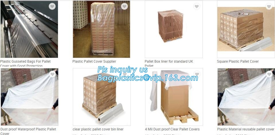 """44/"""" x 44/"""" x 66/"""" Heavy Duty Pallet Cover Maximum Protection for Equipment 4 Mil"""
