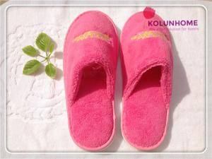 China Luxury quality disposable cotton hotel slipper eva lady slipper on sale