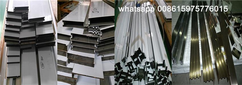 Brushed Finish Stainless Steel Sheet Trim Decorative Strip