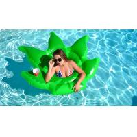 Float On Weed Leaf Inflatable Pool Floats Envirnomental PVC Pool Party Toys 64 * 64""
