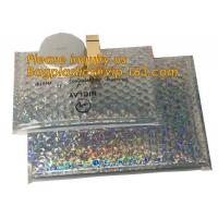 air mail metallic holographi rose gold bubble padded mailer / ziplock bubble bag/ slider bubble bag,Holographic Factory